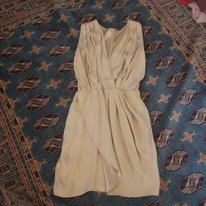 Amanda Uprichard silk satin dress in nude, P